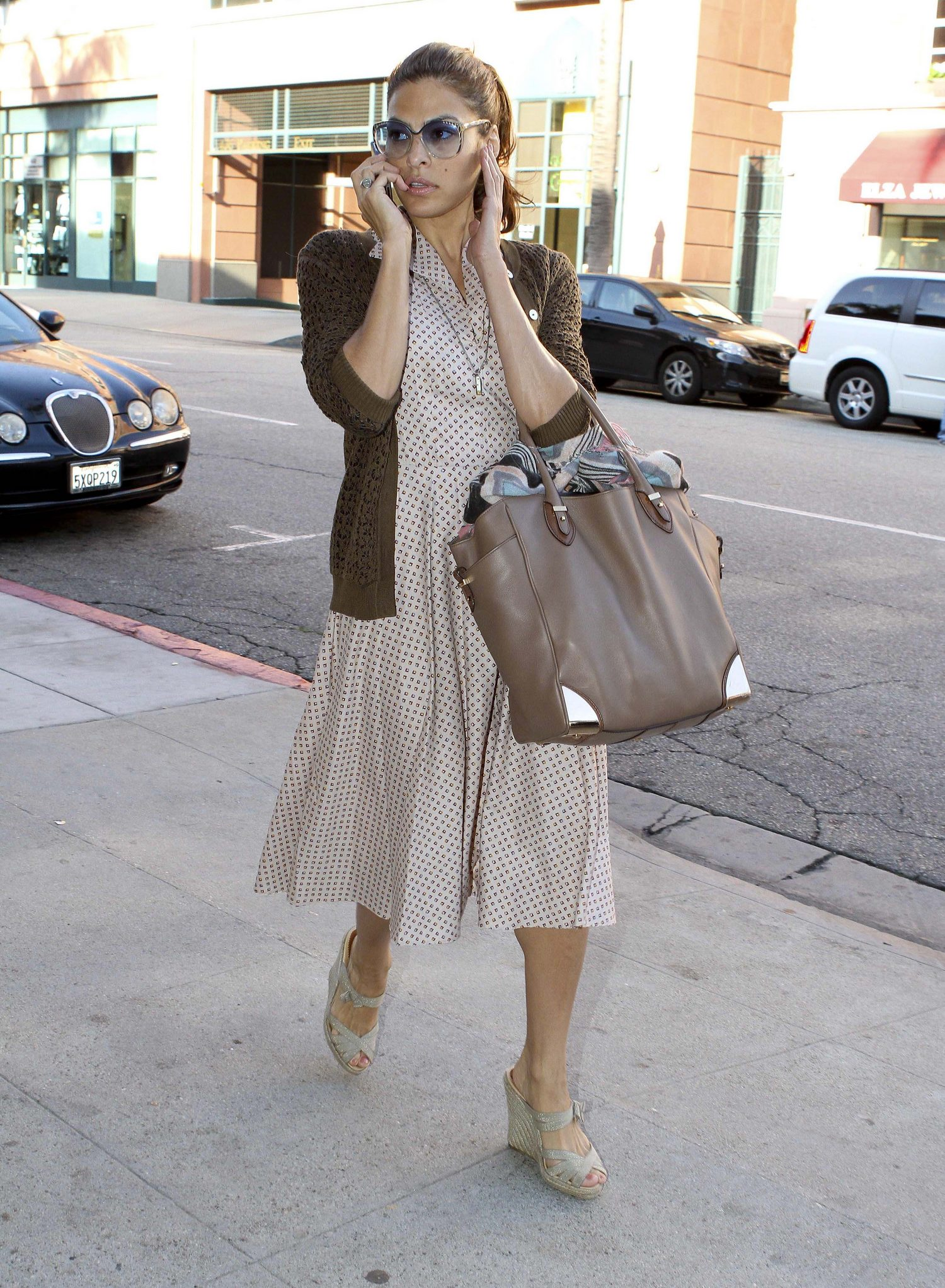 Eva Mendes outside a medical center in Beverly Hills