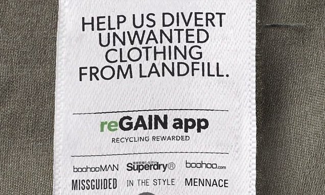 Regain recycling app campaign via Bagstowear2